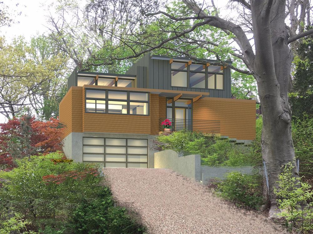 Steep slope design, New York