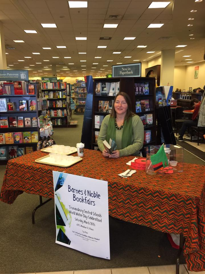 Julia leonard with the zcei at the barnes and noble book fAIR