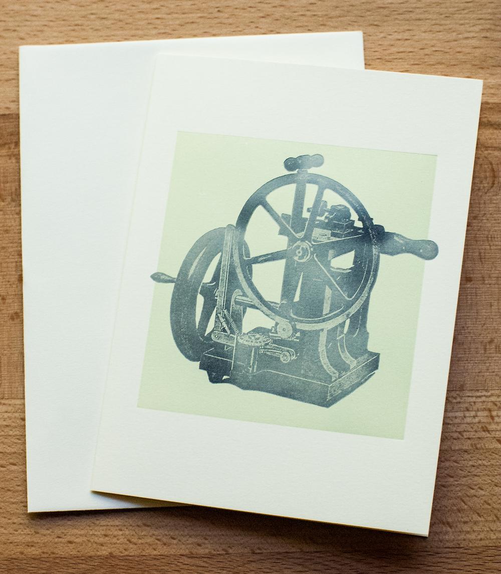 Printing Press Greeting Card Innerer Klang Letterpress