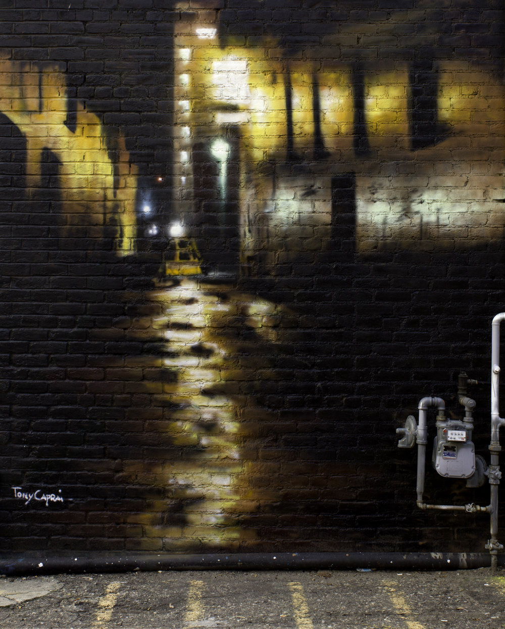 """Freak Alley"". Aerosol on Brick. 2014. Freak Alley Gallery"