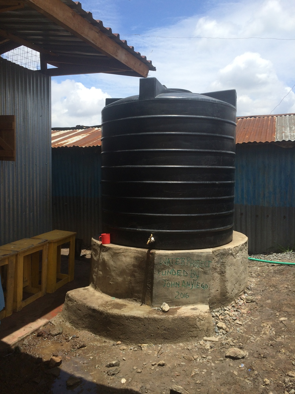 Our new water tank