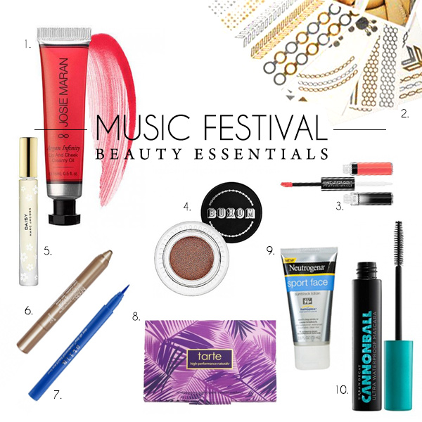 music festival beauty essentials