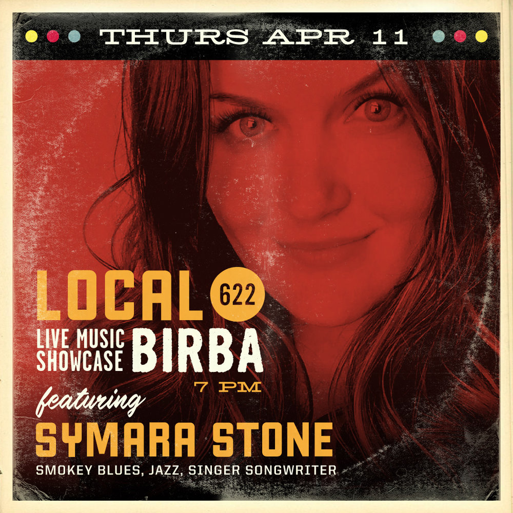 4/11- Symara Stone (Smokey Blues, Jazz, Singer Songwriter)   Born in Sunny Palm Springs California in early 1986, singer/songwriter Symara Stone was a born a performer! Known for her incessant humor, deep direct raw lyrics, & jazzy motown bluesy croon this girl has been taking the stage since she was a youngster. Her passion for writing songs fueled with her life experience has created an ongoing self-taught creative process that she can't stop. Writing a song per day is common in the Stone residence. Symara loves people, animals, music, art, dance, self-expression of all forms, & yoga! Her songs deal with death, love, heartbreak, nature, sobriety, & addiction. She is said to channel all the bad & good she feels into song, and uses songwriting as a way to heal herself with sound. Open to all genres, Symara's songs never are catapulted into one box. When a country song appears in her heart, a country song she will write. Electronica, Downtempo, Ambient, Indie, Indie pop, Rock, Blues, Jazz, Techno, Dub-step, Tribal, Folk, Mantras, Gospel, Ska, Dixie, Reggae, Funk, Motown, & Soul are just some genres that leap into her fingers when plucking her Ibanez Acoustic Electric Guitar. Piecing together the melody and lyric in her head, her songs come to life and even more so when she's on stage singing in front of you with her big smile & big soul.   https://www.facebook.com/SymaraStone/    www.soundcloud.com/symarastone