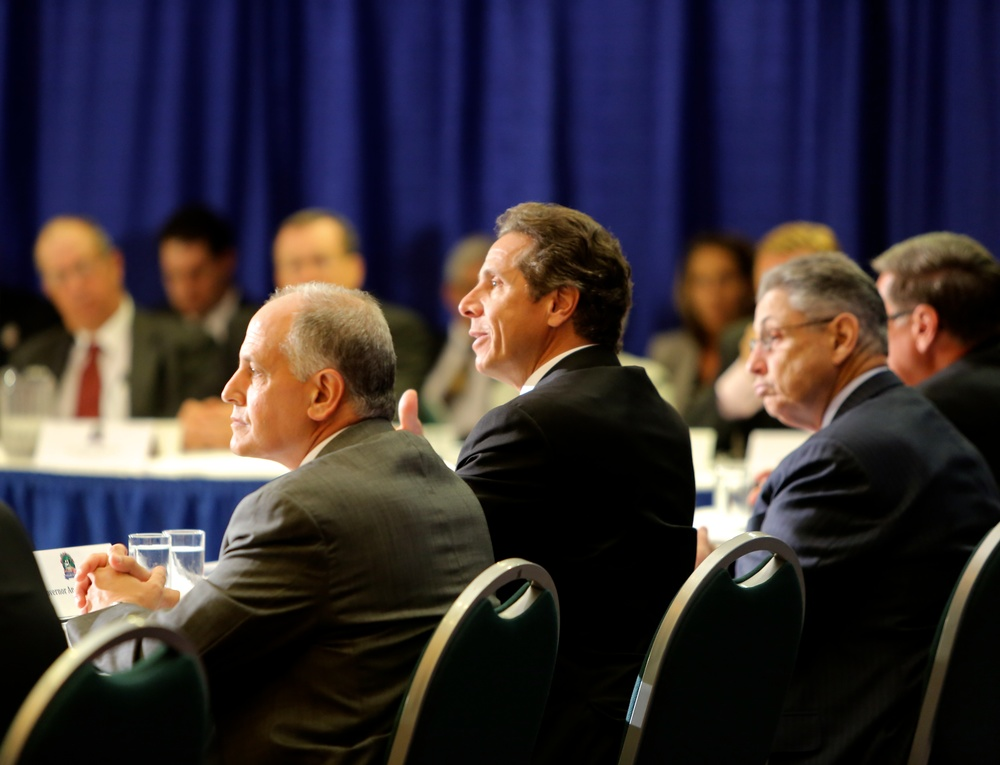Larry Schwartz , left, had an active role in the troublesome review process of the AEG racino bid, as did State Assembly Speaker  Sheldon Silver , (D-Manhattan) right.  Above, Mr. Schwartz and Speaker Silver joined Gov.  Andrew Cuomo  (D-NY) at a 2012 yogurt summit.  Source : Official Photograph (New York Governor's Office)