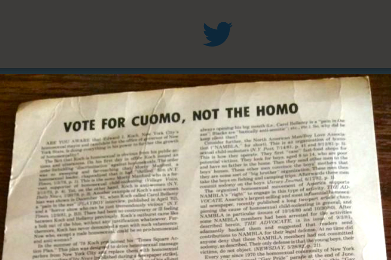 "Image result for ""VOTE CUOMO, NOT THE HOMO"" mailer"