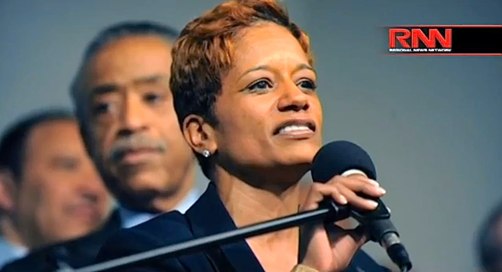 Before  Rachael Noerdlinger  was appointed as chief of staff to New York City First Lady  Chirlane McCray , Ms. Noerdlinger was a top aide to the  Rev. Al Sharpton .  Ms. Noerdlinger's brief stint at City Hall was marred by a series of controversies.  Source :  Richard French Live/RNN/YouTube Screen Shot