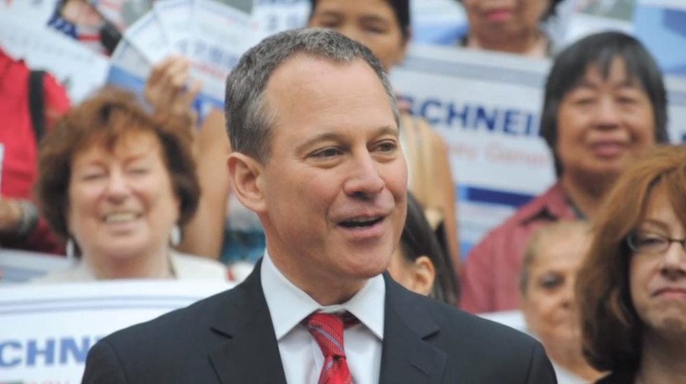 State Attorney General  Eric Schneiderman  (D-New York) faces conflicts of interest even as his office is investigating  Herbalife Ltd .  Source :  Eric Schneiderman Campaign Video/YouTube Screen Shot