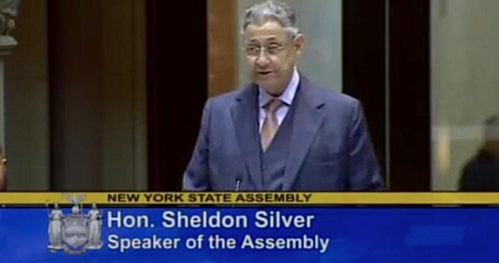 Speaker  Sheldon Silver  at the New York State Assembly on January 12, 2015. Source : New York State Assembly Majority/YouTube Screen Shot