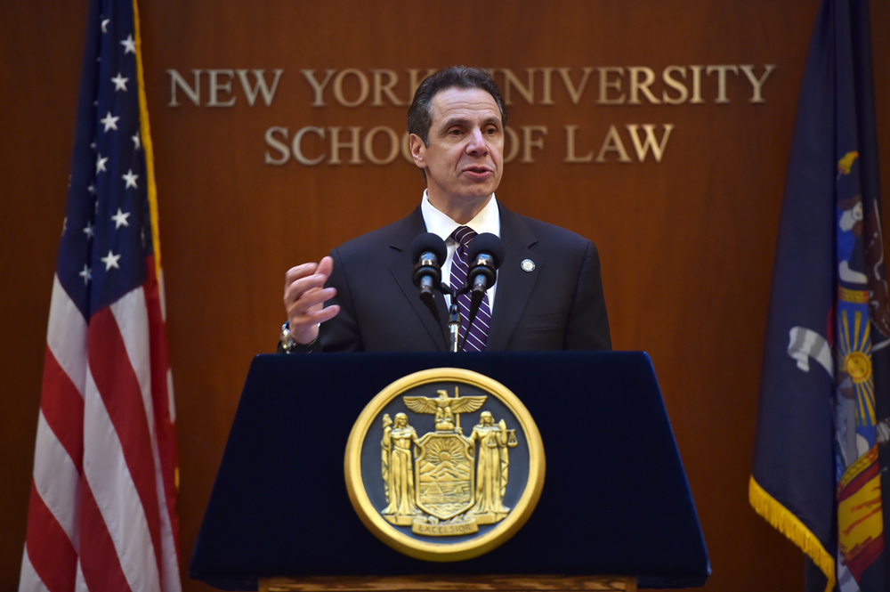 Governor Andrew Cuomo announced a five-point ethics reform plan during an address at New York University School of Law on February 2, 2015.  Some government reform activists believe that a Republican Party-controlled State Senate may block efforts to pass aggressive ethics reform legislation.  In 2014, Governor Cuomo reportedly entered into a secret pact to ensure that the Republican Party remained in the majority in the State Senate.  Source :  Official Photograph/Kevin P. Coughlin/Office of the Governor/Flickr