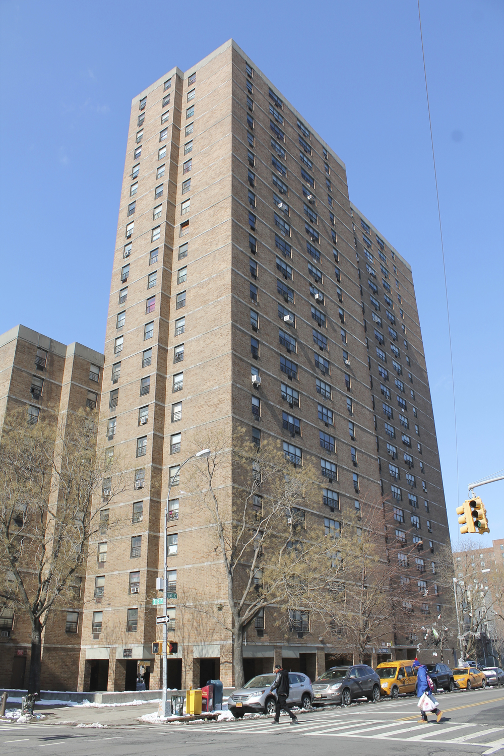 205 Avenue C in Manhattan was one building in a portfolio of project-based, Section 8 buildings NYCHA claimed it was forced to sell in 2014, because it could no longer afford to make capital repairs. However, an investigation by Progress Queens showed that some buildings in the portfolio, particularly in Brooklyn, received substantial repairs before the cash-strapped housing authority sold the buildings in a backroom deal to a consortium of developers with close political ties to the de Blasio administration.  Source :  Louis Flores