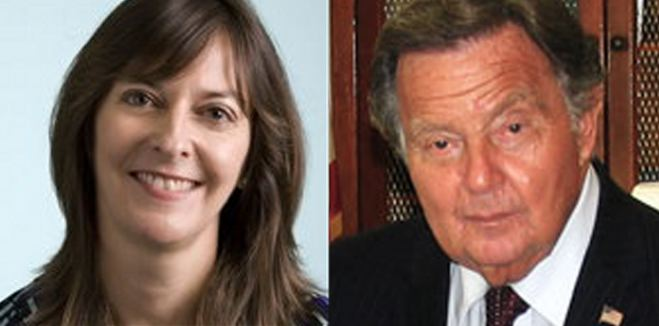 Left to Right : Acting U.S. Attorney  Bridget Rohde , the top Federal prosecutor for New York's eastern district, and Queens District Attorney  Richard Brown . The offices of the top prosecutors with direct jurisdiction over Queens declined to answer questions about an exposé published by  The New York Daily News , which raised questions about the influence being exerted by a politically-connected Queens law firm. Source : LinkedIn/Fair Use and Queens District Attorney's Office/Public Domain