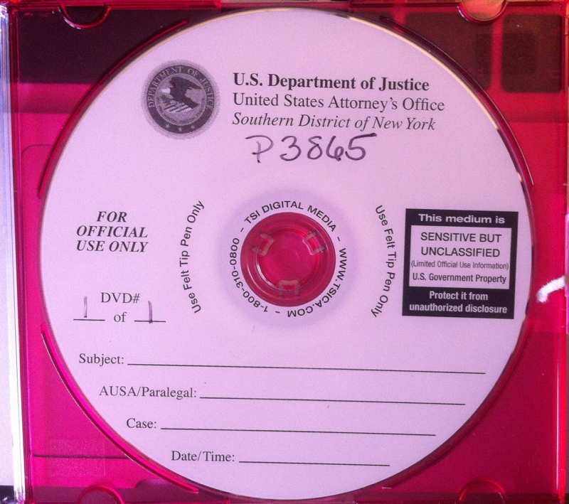 A  CD-ROM  containing documents constituting the  First and Second FOIL Responses  made by the  U.S. Department of Justice  to the publisher of Progress Queens. A total of 293 files amounting to 217,4 MB were found on the CD-ROM. An index of the files has been posted online to GitHub, and the contents of the CD-ROM were made available on Google Drive. Source : Louis Flores/Progress Queens