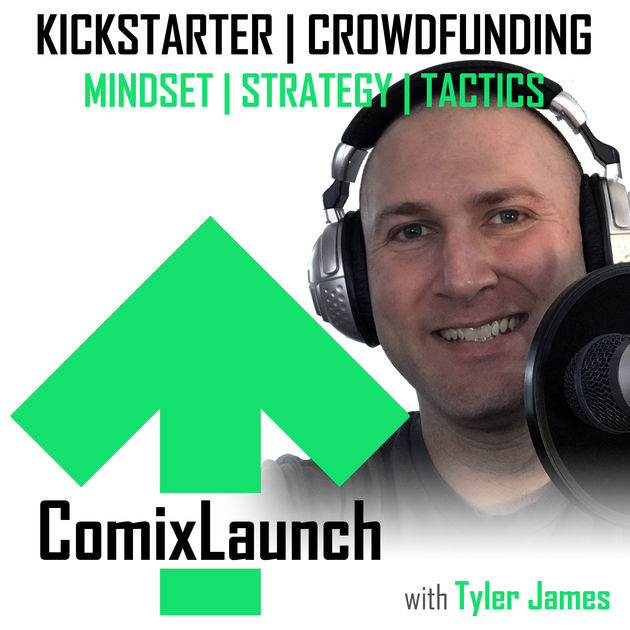 Listen to ComixLaunch - I believe Kickstarter has become an essential tool for comic creators today. There's no better resource out there to learn about crowdfunding than ComixLaunch - a site / podcast I cofounded with Tyler James. Tyler brings weekly insight on crowdfunding you should listen to if you've ever considered funding a comic on Kickstarter.