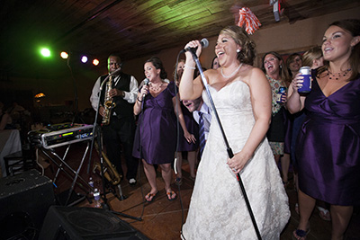The Soul Shockers had Kristin and Jeremy's wedding rocking.