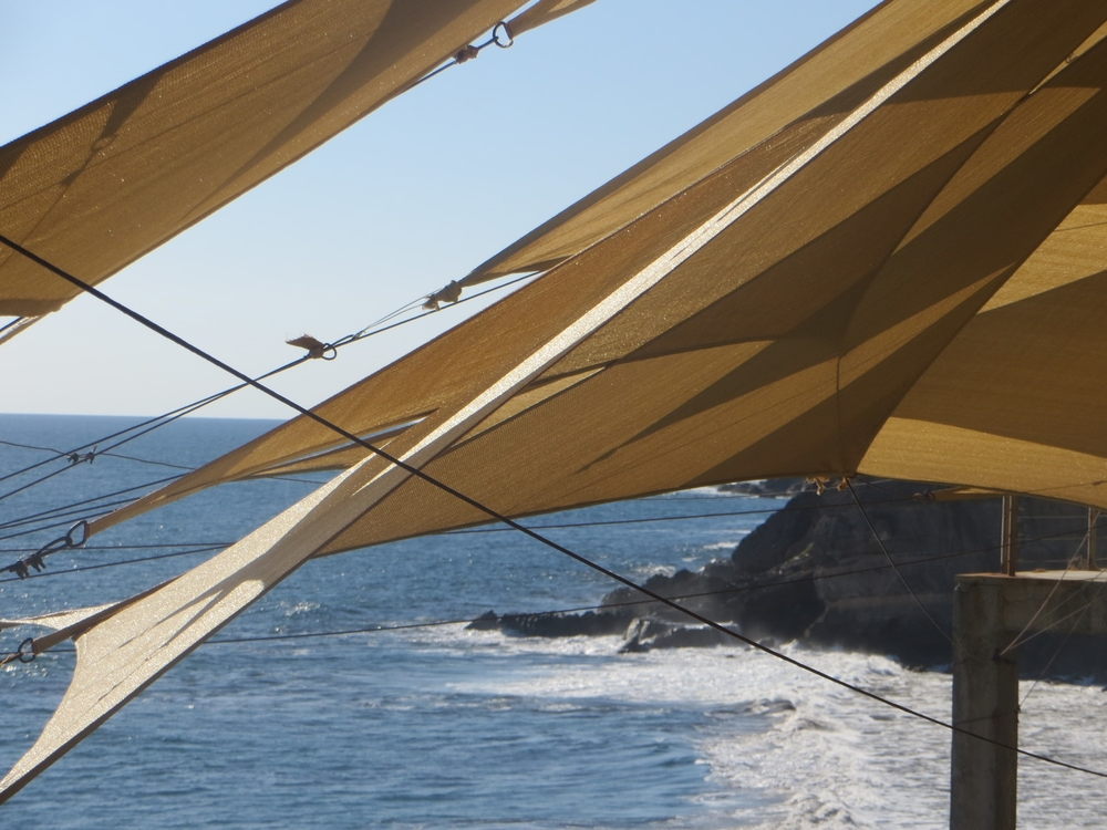 The view from the deck of La Ola restaurant, overlooking the Pacific