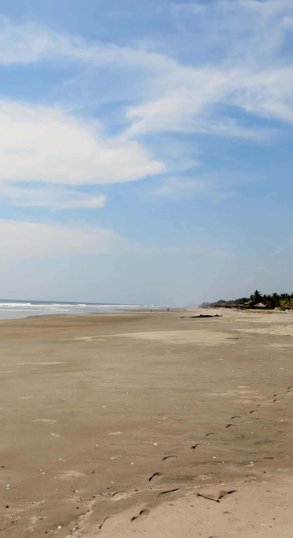 The volcanic sand of El Salvador's beaches
