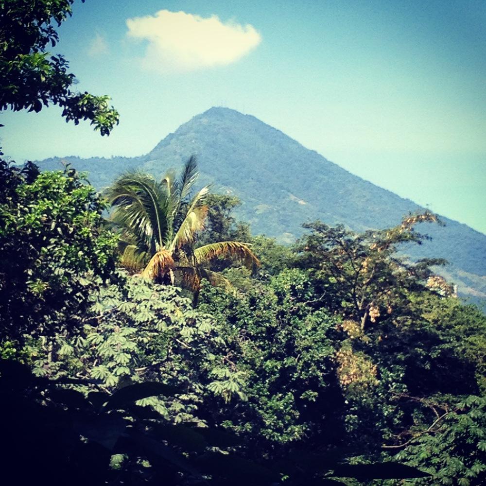 The San Salvador volcano