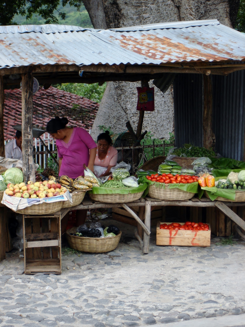 Local women selling their bounty