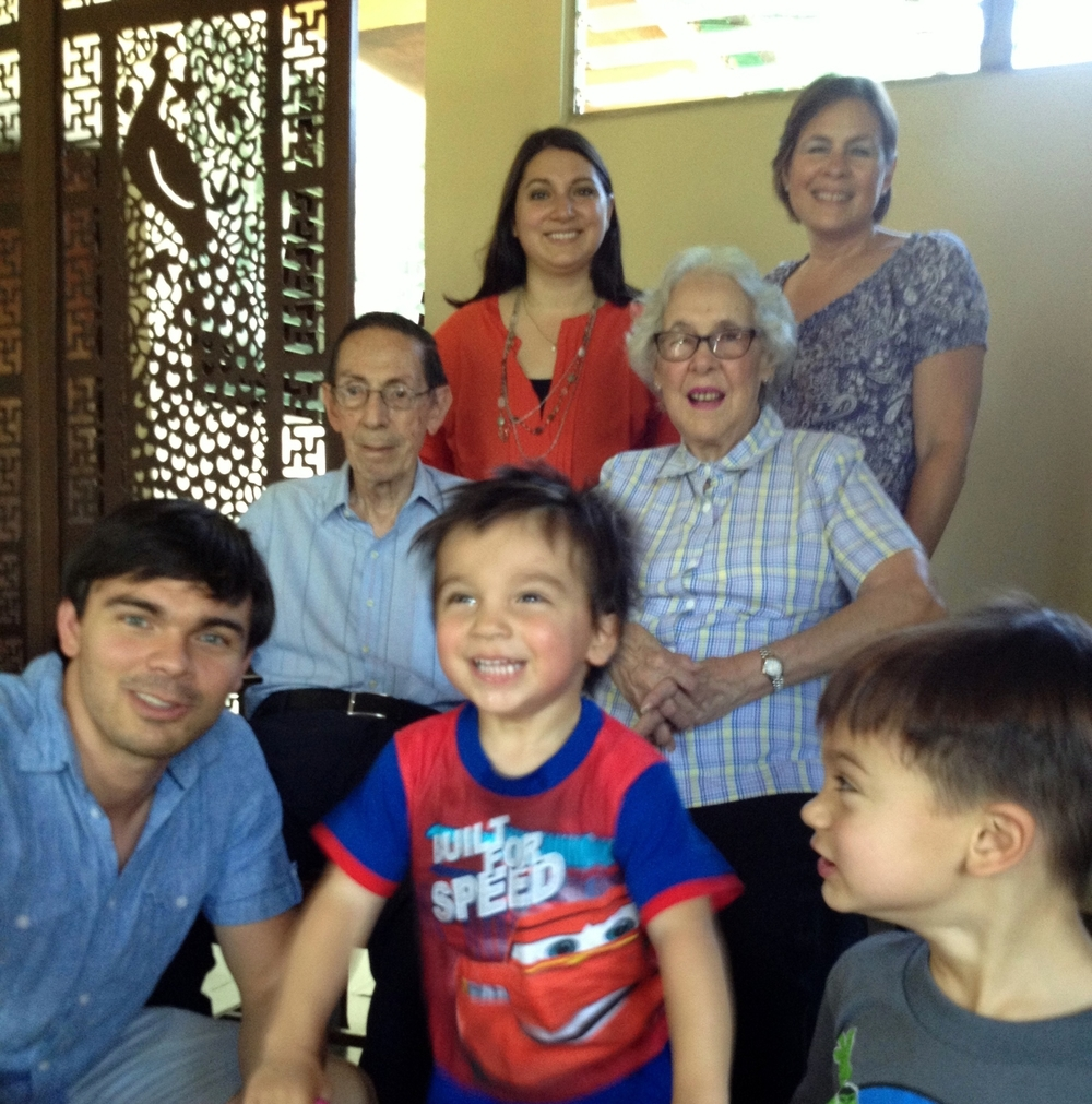 Four generations together. The kids great-grandparents are 87 and 92.