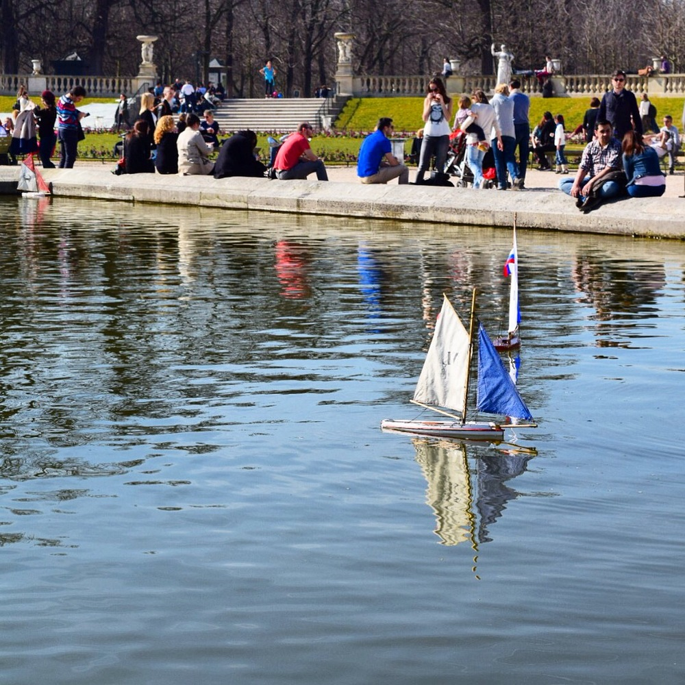 The sailboats on the pond. kids (and adults) love this.