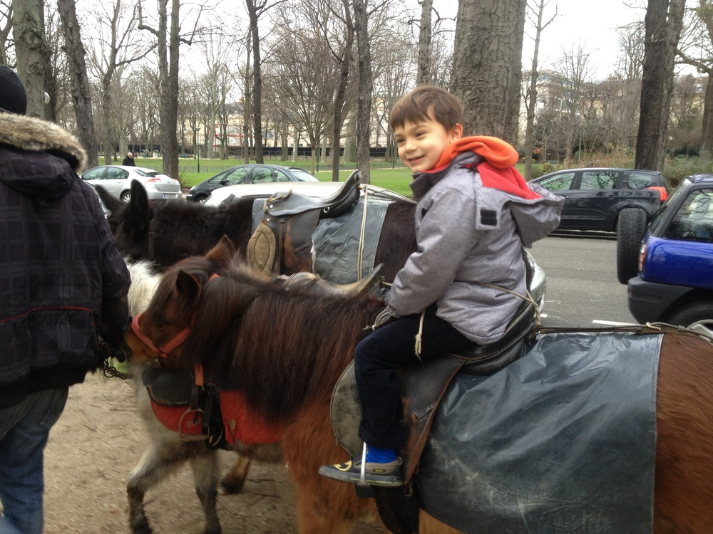 Pony rides! These were in the Jardins de Ranelagh, but again, same concept