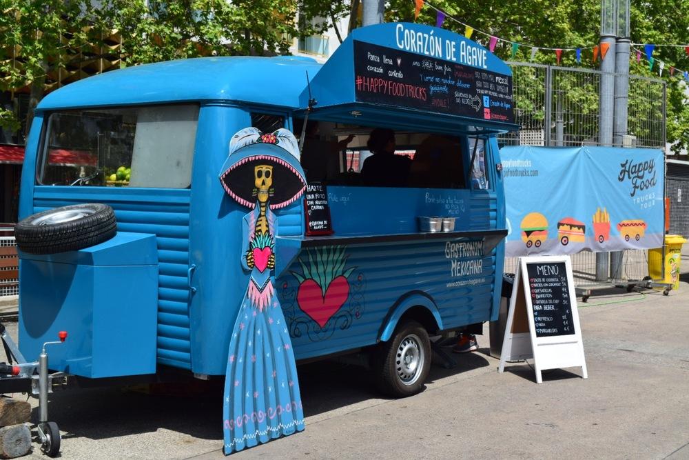Exploring the town of Lloret de mar and the food truck festival.