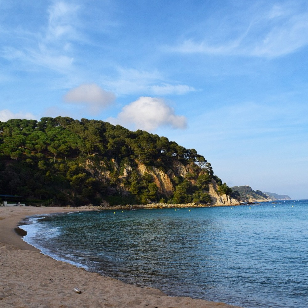 Another beach in Lloret de mar, about 15 minutes from the main beach. This beach has softer sand and calmer water.