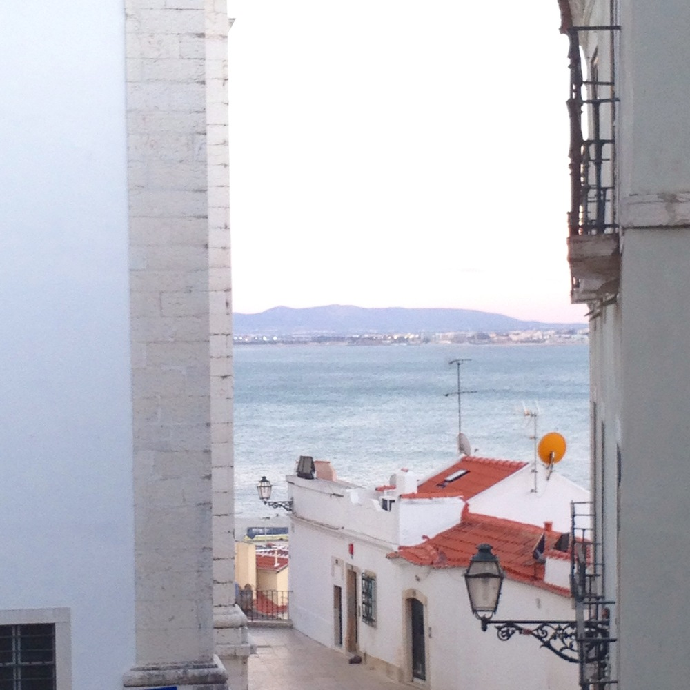 The view from the bedroom in our Alfama rental in Lisbon.