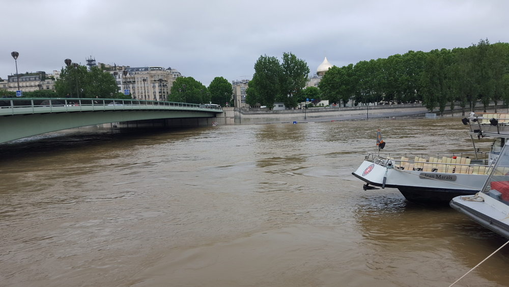 The Seine, rising and moving quickly