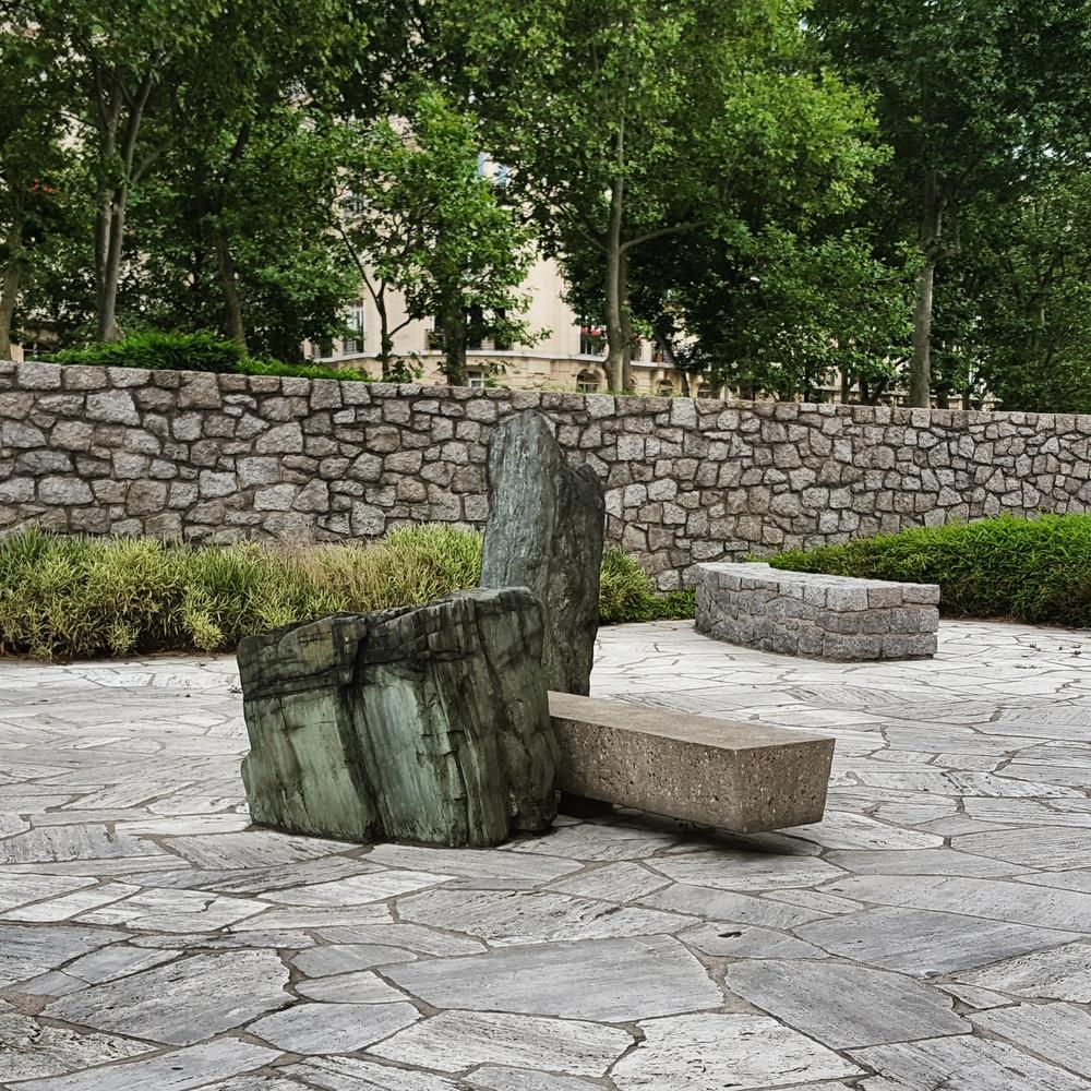 Rock from Hiroshima in the Japanese Garden