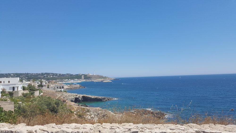 One of the views from the tourist train in Santa Maria di Leuca.