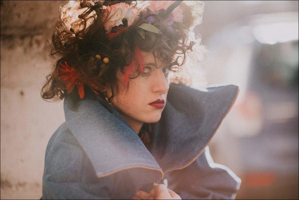 Creative portrait flower crown