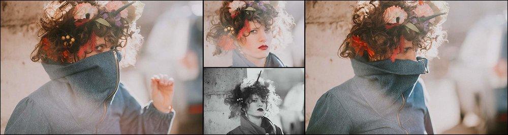 Creative portrait flower crown fashion art