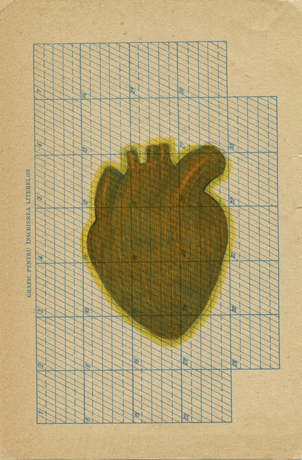 PAPER HEART (2014) FELT PEN ON PAPER 23 x 15CM