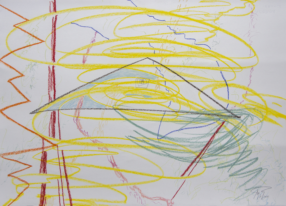 IN/OUT SPACE/ POIKILIA (2015) PASTEL ON PAPER 57 X 77 CM