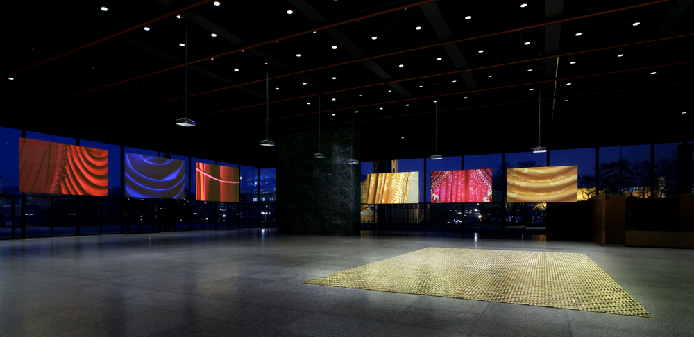 BARONS' HILL (2004) Neue Nationalgalerie in Berlin, six channel installation / The Dream Floor (2006) 8x10m, pressed brass, wood