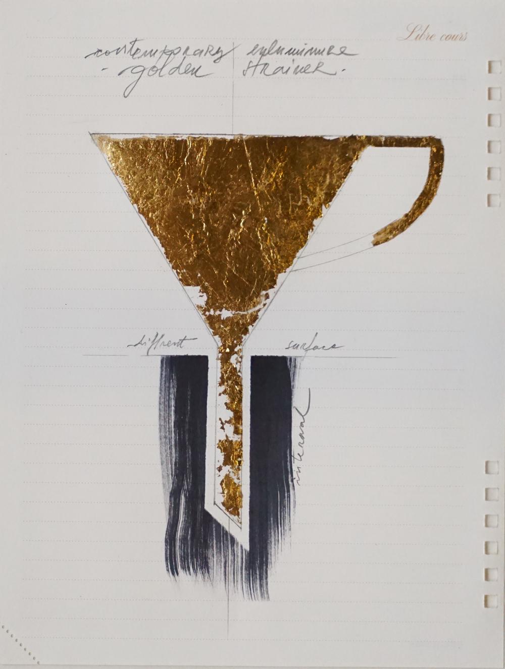 Temporel Louis Vuitton 2 (2015) mixed media on paper 22 x 16 cm