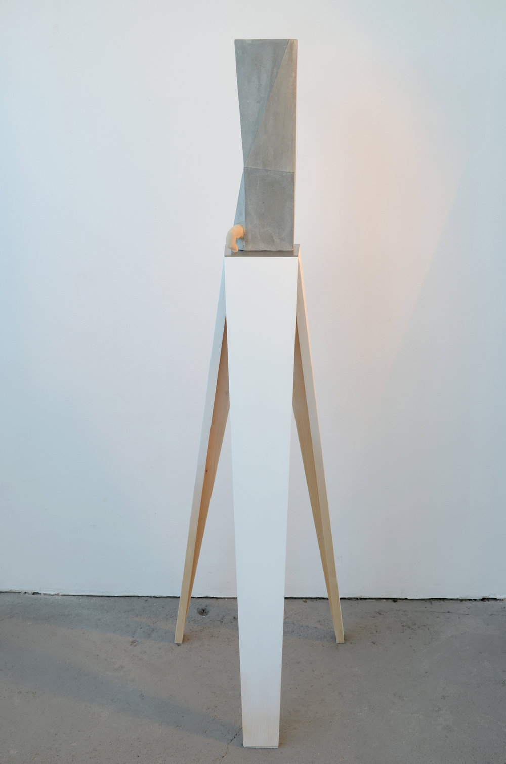 WITH / CONCRETE / RESIN / GRAPHITE / METAL / WOOD / PAINT 136 X 40 X 41 CM 2013