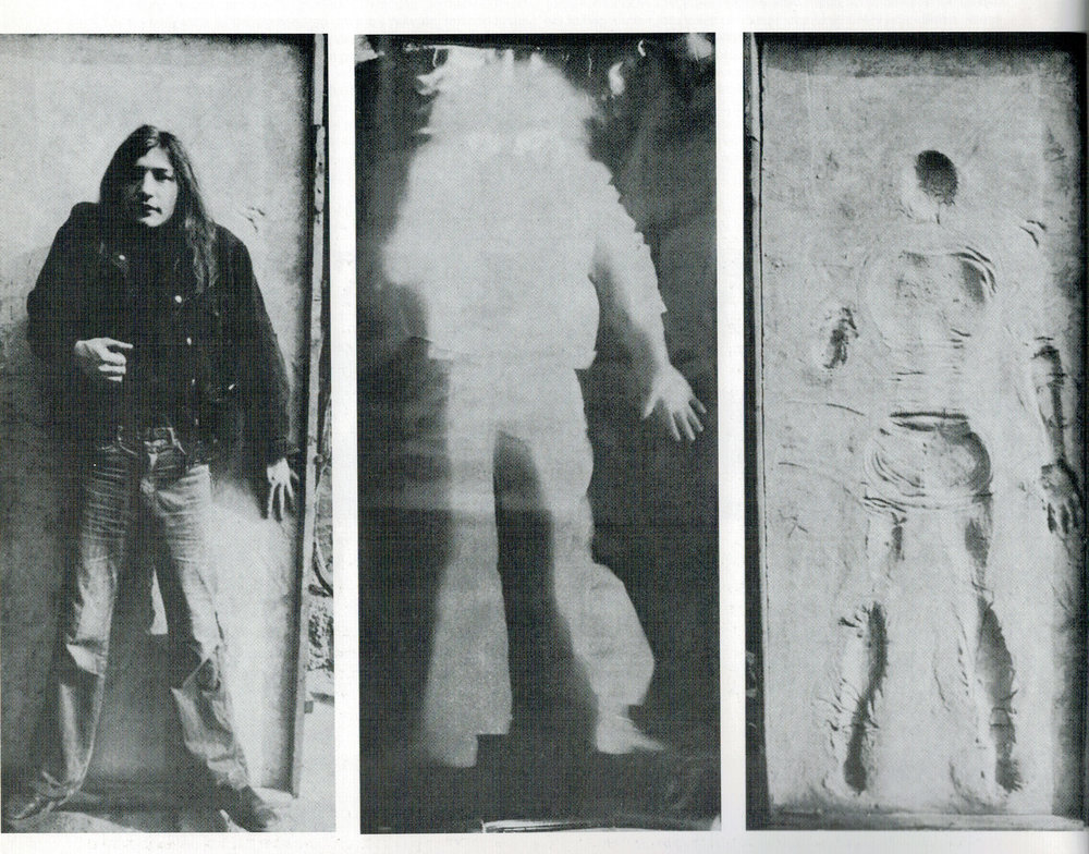 TRIPTYCH (1975-1977) black and white photograph, photogram, concrete