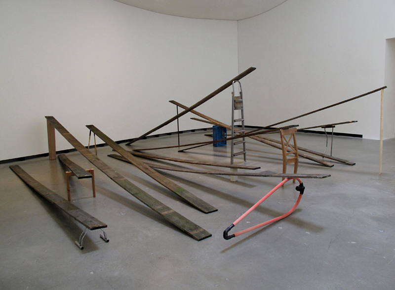 ON THE UP DOWN  (2013) Reclaimed wood, various found objects Installation view: MARTa Herford Museum, Herford, Germany