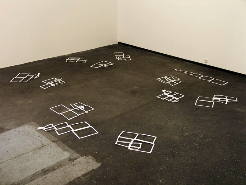 PAGES - SPREAD (2009) Paper Installation view: Tanas Space, Berlin, Germany