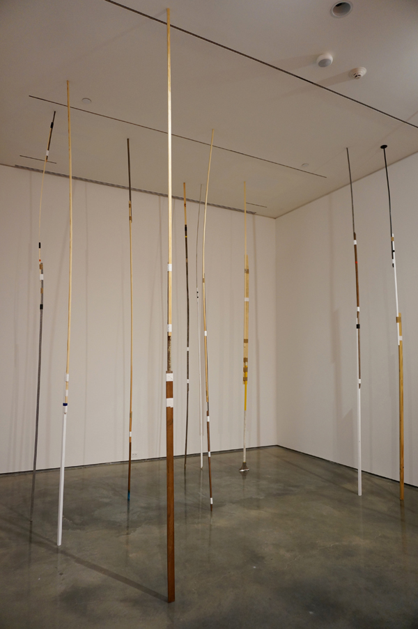 REINFORCEMENTS (2016) Wooden sticks, found objects, tape Installation view: Hessel Museum of Art @ Bard Center for Curatorial Studies, Annandale-on-Hudson, NY, USA