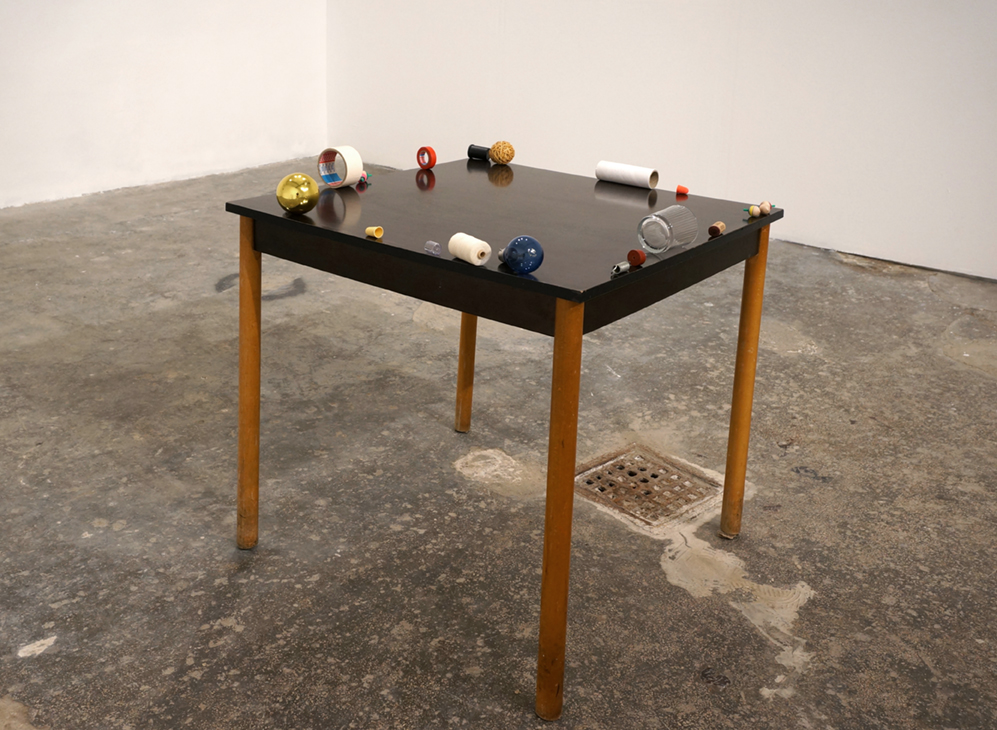 PERIPHERAL AWARENESS (2014-16) Wooden table, various objects