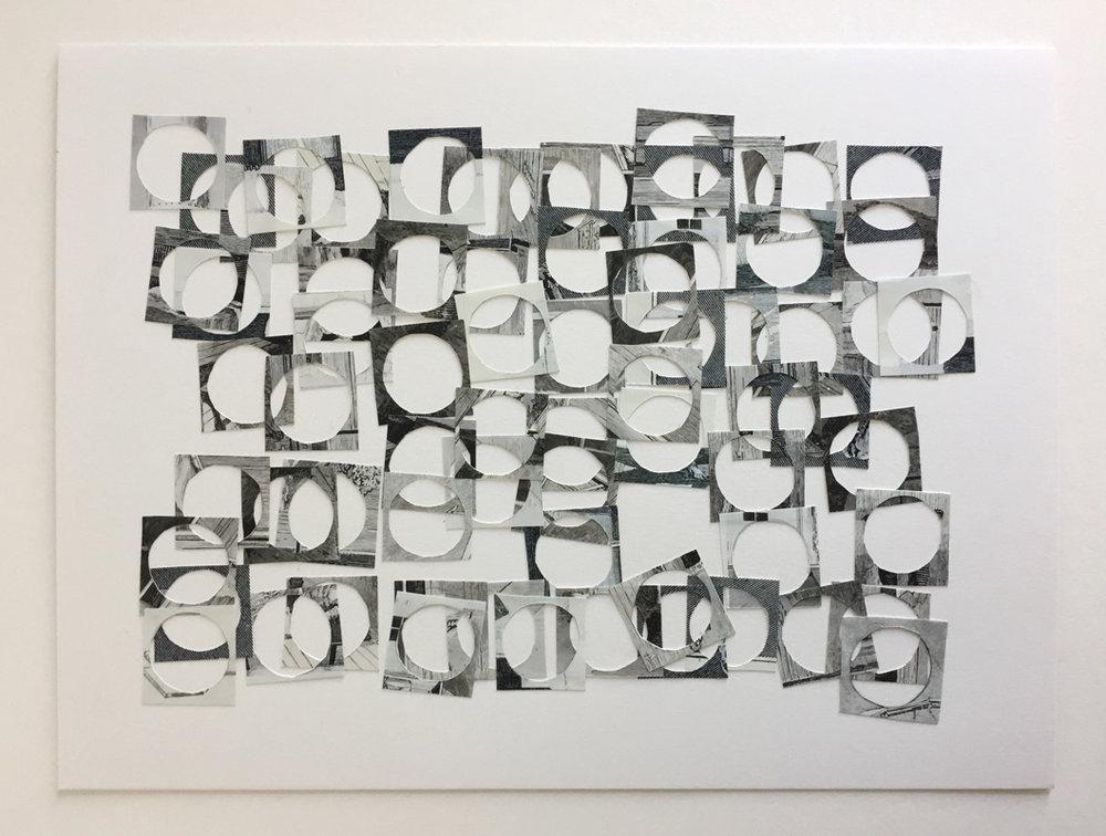 HOLES GRID (2018) Inkjet photo collage on Bristol board