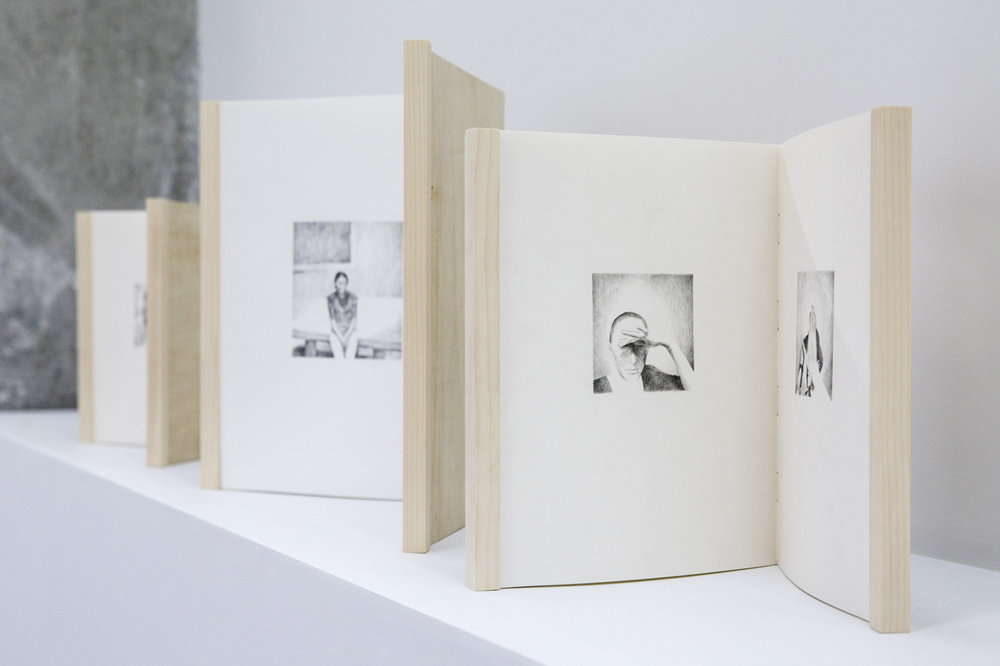 PAIRS (2012-2015) drawing, pencil on paper, dimensions variable, Exhibition view, Image copyright: Galeria Plan B, Cluj