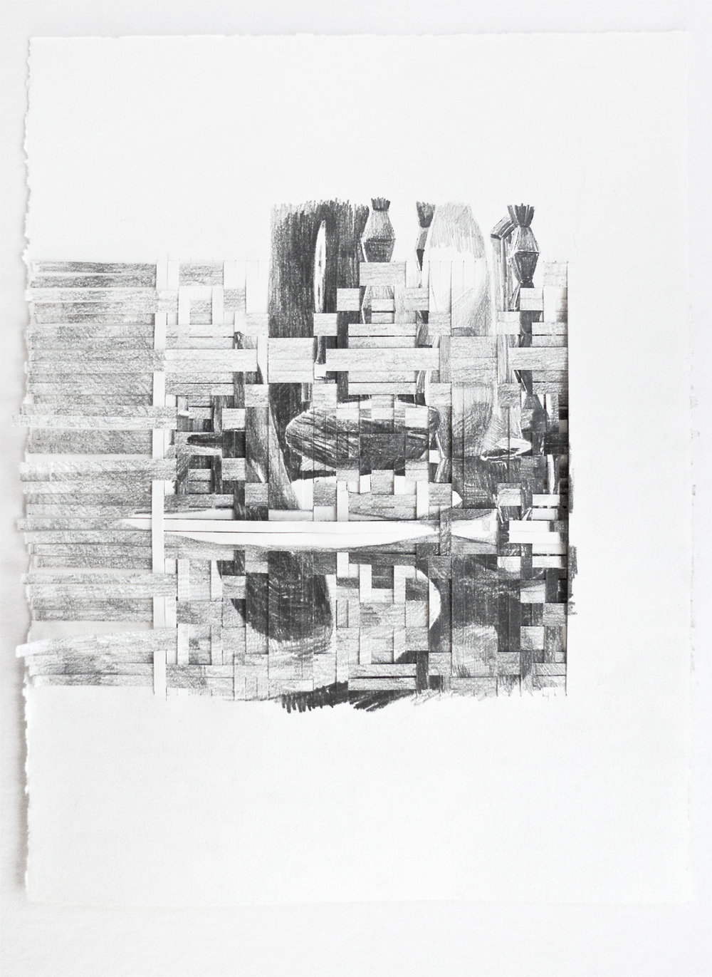 CUTS #4 (2016) pencil on paper, 37.5 x 29 cm