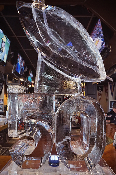 The Super Bowl 50 Lombardi Luge