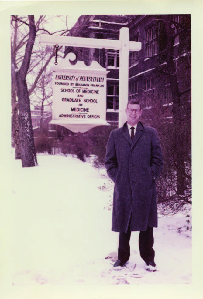 Dan Albert in his student days during Winter Break 1958.