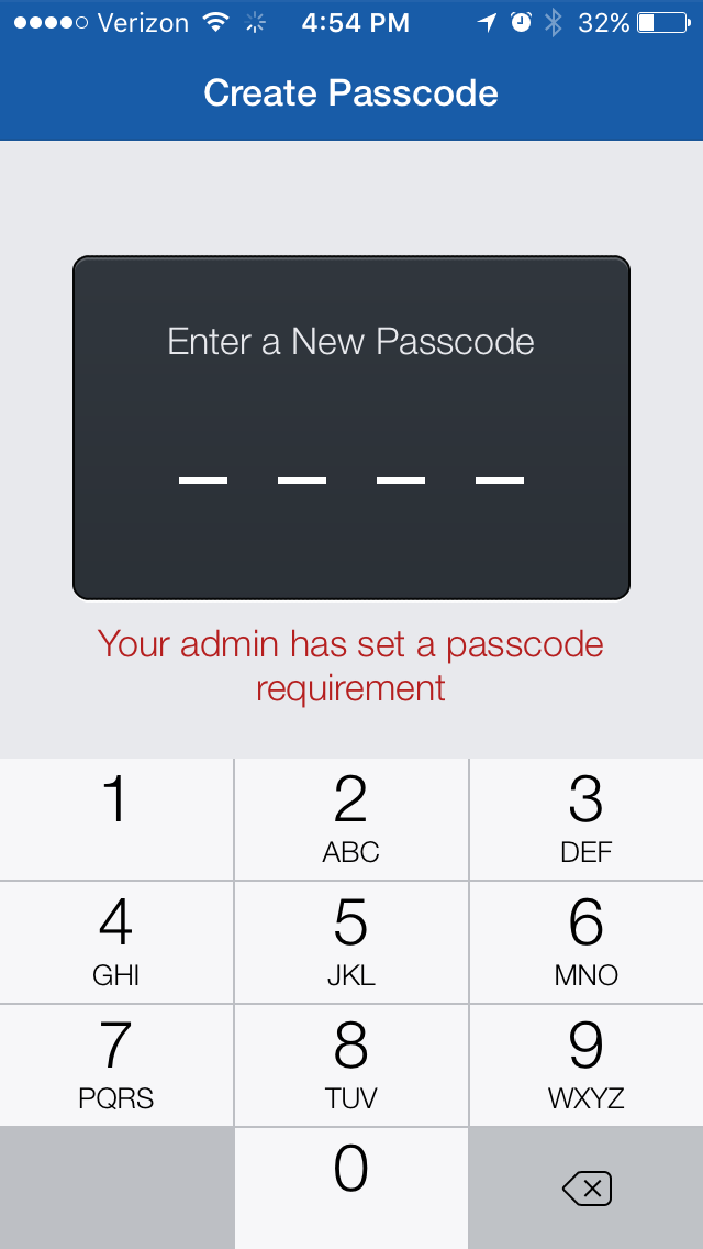 5.  Set a 4-digit security pin for your account.