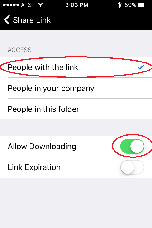 "10.  Select ""People with the link,"" and make sure that ""Allow Downloading"" is turned on."
